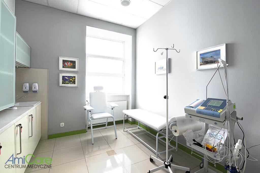 Gabinet lekarski ośrodka medycyny nowoczesnej w Łodzi Amicare